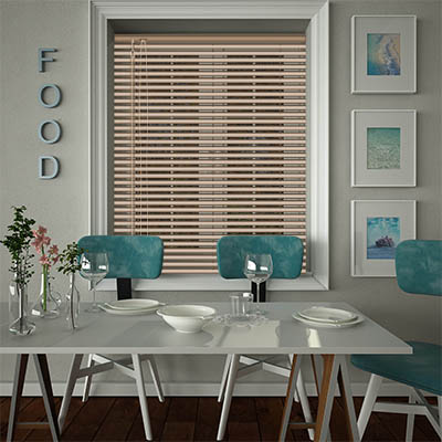 Venetian Blinds Cottage Pine Effect Opened