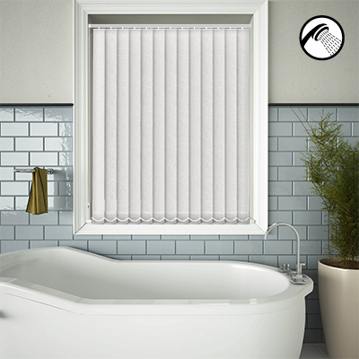 Made to Measure Waterproof Replacement Vertical Blind Slats Crackles White Main