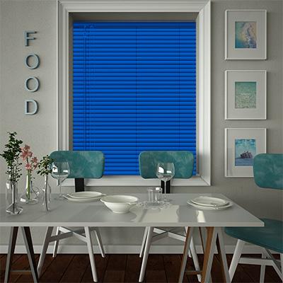 Venetian Blinds Deep Blue Closed