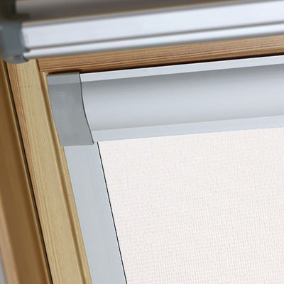 Blackout Blinds For Optilight Roof Skylight Windows Delicate Cream Frame Two