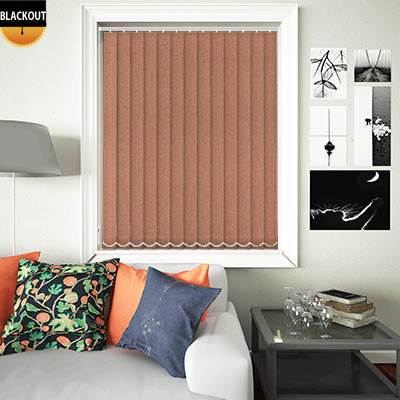Made to Measure Eden Amber Blackout Replacement Vertical Blind Slats