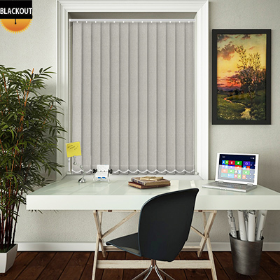 Made to Measure Eden Beige Blackout Replacement Vertical Blind Slats