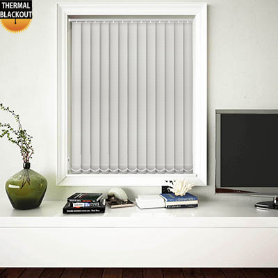 Made to Measure Eden Bright White Blackout Replacement Vertical Blind Slats