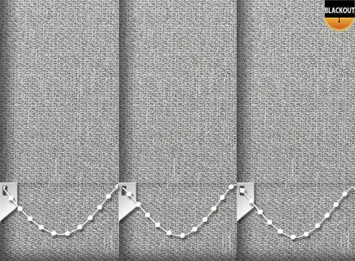 Made to Measure Eden Graphite Grey Blackout Vertical Blinds
