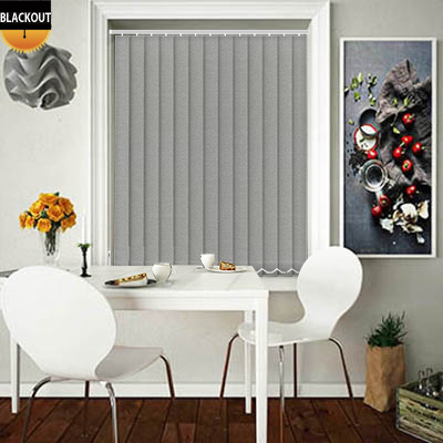Made to Measure Eden Graphite Grey Blackout Replacement Vertical Blind Slats