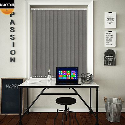 Made to Measure Eden Shadow Grey Blackout Replacement Vertical Blind Slats