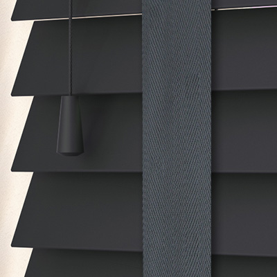 Empire with Dusk Tape Wooden Venetian Blind Close Up