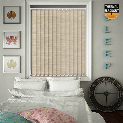 Made to Measure Thermal Replacement Vertical Blind Slats Essence Angora Main