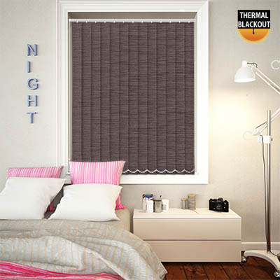 Made to Measure Thermal Replacement Vertical Blind Slats Essence Mauve Main