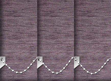 Made to Measure Thermal Blackout Vertical Blinds Essence Mauve 3 Slats