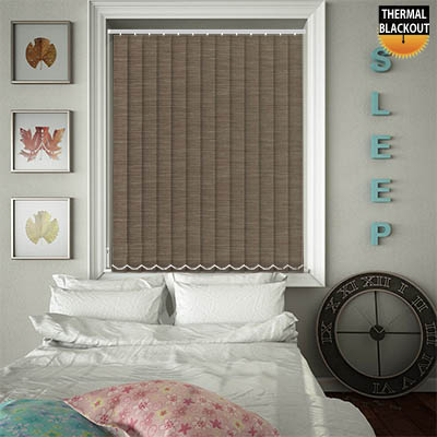 Made to Measure Thermal Replacement Vertical Blind Slats Essence Mink Main