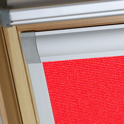 Blackout Blinds For Tyrem Roof Skylight Windows Flame Red Frame Two