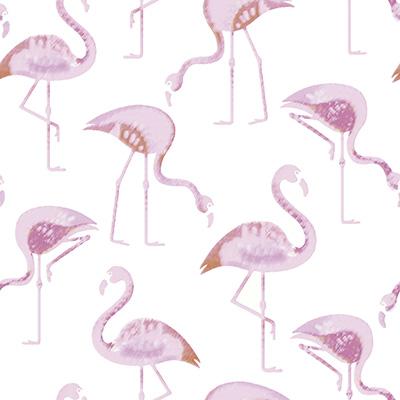 Flamingo Blackout Roller Blinds Close Up