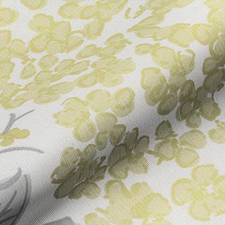 Made to Measure Spring Loaded Cordless Roller Blinds Flowerbed Primrose Zoomed