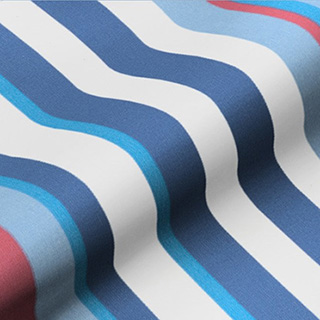 Made to Measure Thermal Blackout Roller Blinds Funky Stripe Sky Zoom