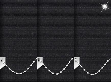 Made to Measure Vertical Blinds Glitter Stripe Black 3 Slats