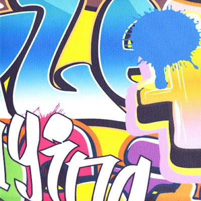 Blackout Blinds For Keylite Roof Skylight Windows Graffiti Close Up
