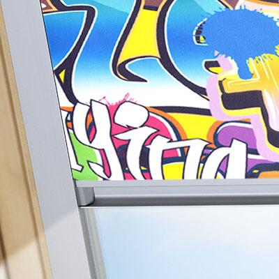 Blackout Blinds For VELUX Roof Skylight Windows Graffiti Frame One