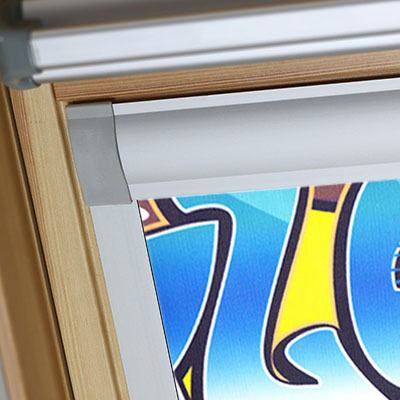 Blackout Blinds For Keylite Roof Skylight Windows Graffiti Frame Two