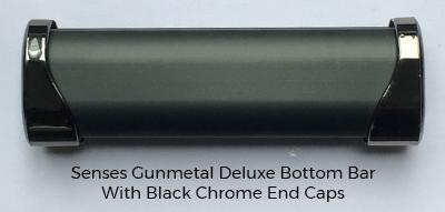 Gunmetal Glitter Roller Blind Gunmetal Bottom Bar
