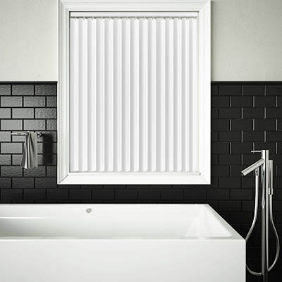Made to Measure Rigid PVC Waterproof Replacement Vertical Blind Slats Jeren Off White Lifestyle
