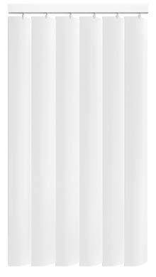 Made to Measure Rigid PVC Waterproof Replacement Vertical Blind Slats Jeren Off White 3Slats Zoom