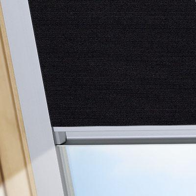 Blackout Blinds For Rooflite Roof Skylight Windows Jet Black Frame One