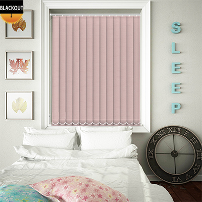 Made to Measure Jordan Peony Pink Blackout Replacement Vertical Blind Slats