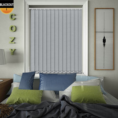 Made to Measure Jordan Steel Blackout Replacement Vertical Blind Slats