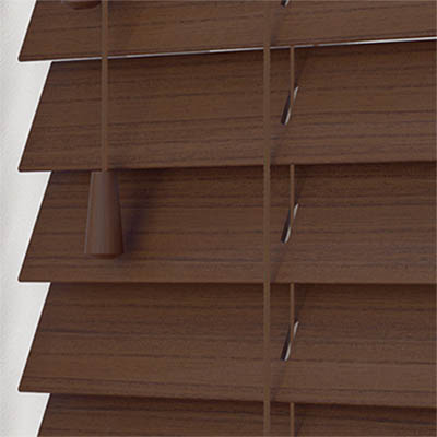 Lima Wood Grain Faux Wood Wooden Venetian Blind Close Up