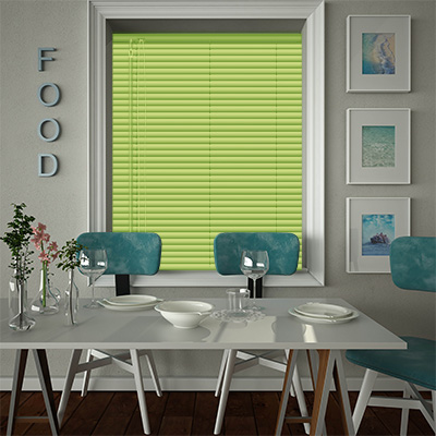 Venetian Blinds Lime Punch Closed