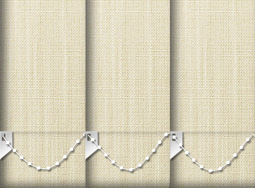 Made to Measure Linen Cream Vertical Blinds