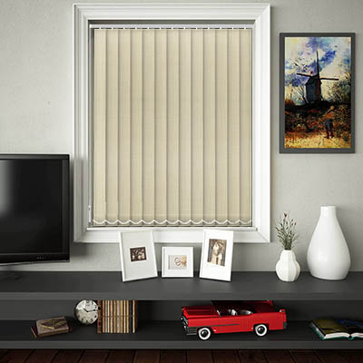 Made to Measure Linen Cream Replacement Vertical Blind Slats