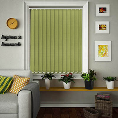 Made to Measure Linen Pesto Replacement Vertical Blind Slats