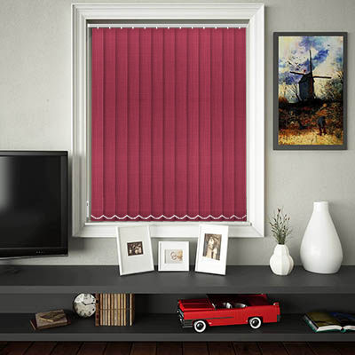 Made to Measure Linen Pink Kiss Replacement Vertical Blind Slats
