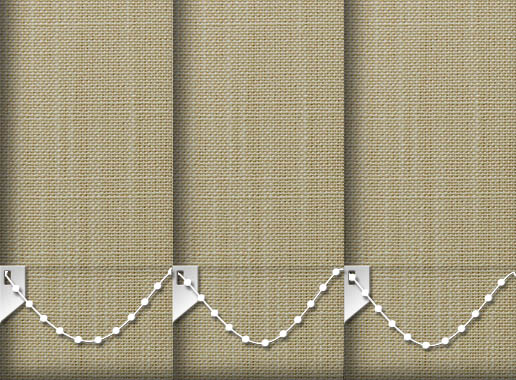 Made to Measure Linen Sandstone Vertical Blinds