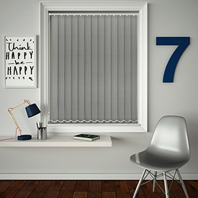 Made to Measure Linen Shadow Grey Replacement Vertical Blind Slats