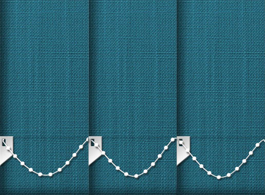 Made to Measure Linen Teal Vertical Blinds