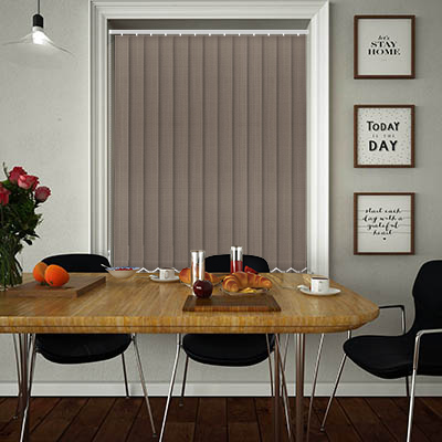 Made to Measure Linen Truffle Replacement Vertical Blind Slats