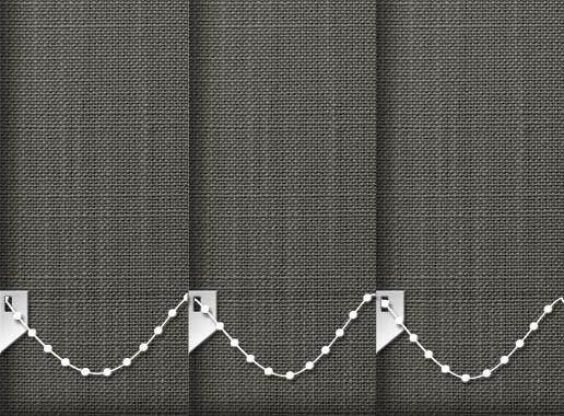 Made to Measure Linen Zinc Grey Vertical Blinds