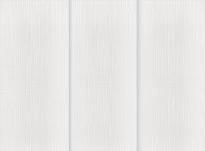 Linum Brilliant White Rigid PVC Vertical Blinds Close Up