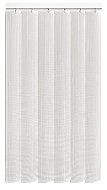 Made to Measure Rigid PVC Waterproof Replacement Vertical Blind Slats Linum Brilliant White 3Slats Zoom