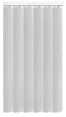 Made to Measure Rigid PVC Waterproof Replacement Vertical Blind Slats Linum Chalk White 3Slats Zoom