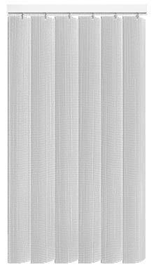 Linum Chalk White Rigid PVC Vertical Blind Main Image