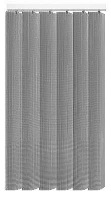 Made to Measure Rigid PVC Waterproof Replacement Vertical Blind Slats Linum Grey 3Slats Zoom