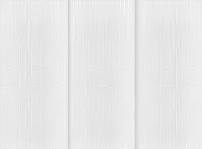 Linum Off White Rigid PVC Vertical Blinds Close Up
