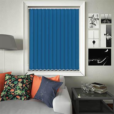 Replacement Vertical Blind Slats Luxe Atlantic Blue Main