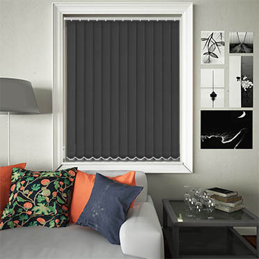 Replacement Vertical Blind Slats Luxe Black Main