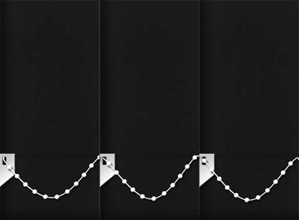 Made to Measure Vertical Blinds Luxe Black 3 Slats