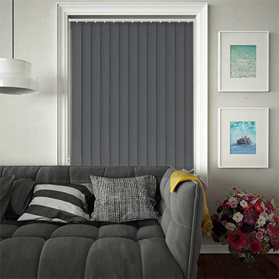 Replacement Vertical Blind Slats Luxe Charcoal Main
